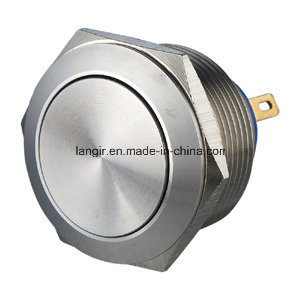 22mm Pin Terminal Stainless Steel Momentary Normal Open Push Button Switch pictures & photos