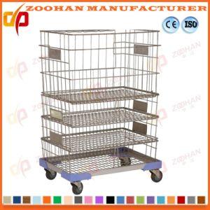 Galvanized Welded Steel Supermarket Warehouse Wire Mesh Storage Cage (Zhra14) pictures & photos