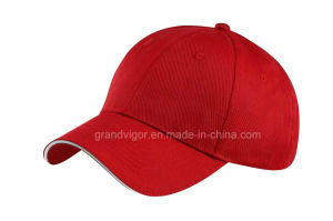 Six Panels Blank Cotton Baseball Hat with Sandwich (603) pictures & photos