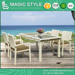 Outdoor Dining Set with Auto-Extension System Rattan Dining Chair (Magic Style) pictures & photos