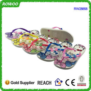 Printed Kitty Girls Pictures Flip Flops (RW28858)