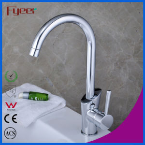 Fyeer China Single Handle Goose Neck Kitchen Sink Faucet (QH1771K) pictures & photos