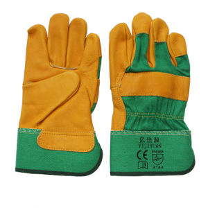 10.5 Inch Cow Top Grain Leather Work Gloves pictures & photos
