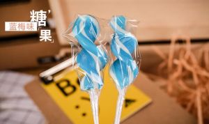 Various Tastes Twister Hard Lollipop Candy pictures & photos