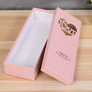 Custom Cardboard Boxes for Flowers Packaging Brown Kraft Paper Box pictures & photos