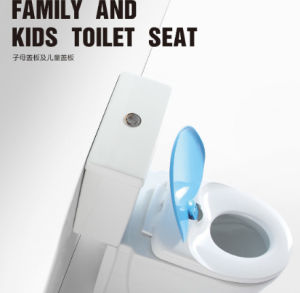 Fashion Bathroom Toilet Seat with Child Ring Us Elongated pictures & photos