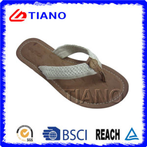 Woven Straps Casual Outdoor Flip Flop for Women (TNK35811) pictures & photos