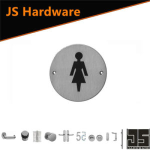 New Style Stainless Steel Female Toilet Door Sign Plate