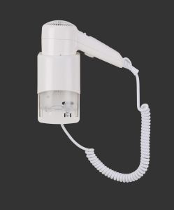 Hotel Hair Dryer Bathroom Use Wall-Mounted Hair Dryer Professional 1200W Plastic pictures & photos