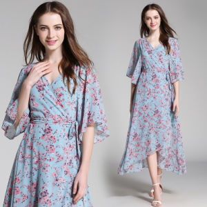 One Size Casual Floral Half Sleeve Kimono/Kaftan (A189) pictures & photos