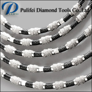 Reinforce Concrete Multi Cutting Brazed Bead Diamond Spring Wire Saw pictures & photos