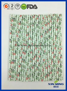 Eco Friendly Party Supply Floral Pattern Paper Straw pictures & photos