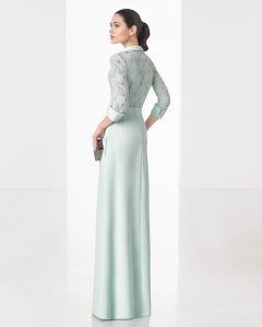 3/4 Sleeve Blouse Skirt and Lace Body Formal Evening Gown pictures & photos
