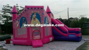 Pink Inflatable Princess Bouncy Castle, Jumping Bouncer Castle