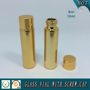 8ml 10ml Gold Electroplating Bottle with Gold Cap pictures & photos