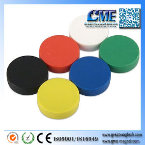 Magnet with Plastic Cover Color Magnet Disc pictures & photos