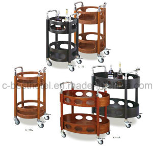 China newest design hotel guest room service cart china for Hotel room service cart
