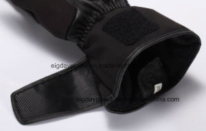 7.4V and 12V Dual Power Heated Leather Motorcycle Heated Gloves Anti-Slip pictures & photos
