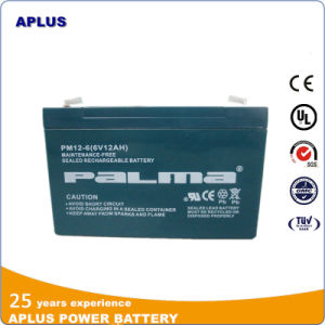 Rechargeable AGM Lead Acid Solar Power Deep Cycle Battery 12V6ah pictures & photos