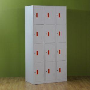 Office 12 Door Locker Metal Cupboard Locker/Office Furniture for Labors pictures & photos