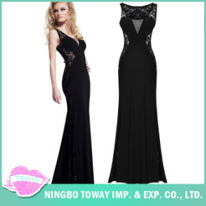 Ladies Night Prom Womens Elegant Lace Beaded Evening Gowns pictures & photos