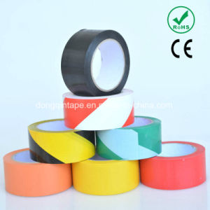Double Color PVC Caution Tape with Strong Adhesive for Floor Warning (76mm*20m/30m) pictures & photos