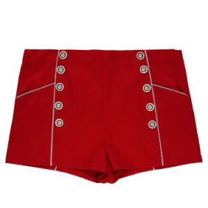 Fashion Clothing Women Red Sexy Leisure Shorts in Stock pictures & photos