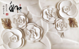 Imitative Relief Sculpture Lotus Flowers and Fish UV Printed on Ceramic Tile Model No.: CZ-004 pictures & photos