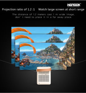 Android 4.4.2 Portable WiFi Bluetooth Smart Multimedia Projector pictures & photos