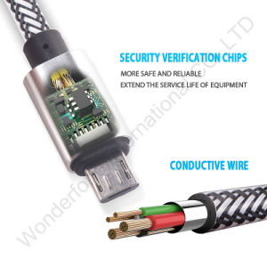 High Quality Stainless Steel Mfi Certificate 1m Data Cable pictures & photos