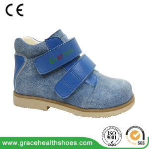 Child Leather Support Shoes Students Corrective Boots pictures & photos