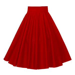 Swing Maxi Size Skirt for Women MIDI Red Skirt with Pocket pictures & photos