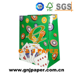 Laminated Material Art Paper Bag with Cotton Rope pictures & photos