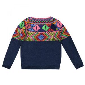 Children Kid Sweater Girls Intarsia True Knitted Sweater pictures & photos
