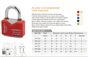 Plastic Cover Phombic Type Padlock 5 Color Available pictures & photos