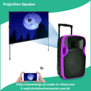 "Professional 12"" Portable Outdoor Active PA System Wireless Projection Speaker"