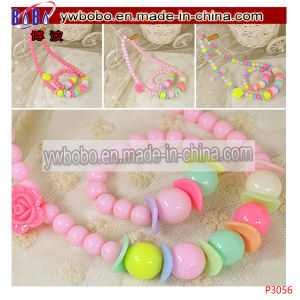Kids Girls Princess Jewelry Necklace Toddlers Children Imitation Pearls Party (P3062) pictures & photos
