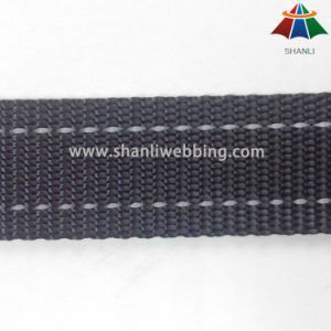 1 Inch Black Two Striped Reflective Polyester Webbing for Dog Collar and Leash pictures & photos