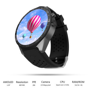 Kw88 Touch Screen Quad Core GPS Android Wear 3G Phone Smart Watch pictures & photos