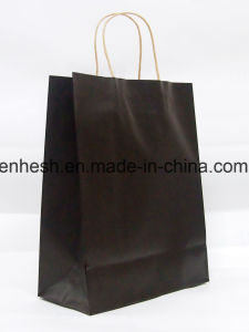 Low Shipping Cost Waterproof Shopping Brown Kraft Paper Bags pictures & photos