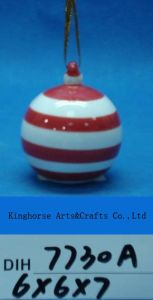 Christmas Tree Decorative Hand-Painted Ceramic Hanging Ball pictures & photos