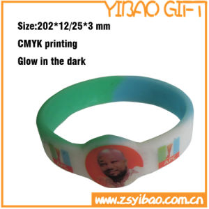 Custom Eco-Friendly Silicone Wristband with Words Printing (YB-SW-07) pictures & photos