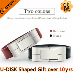 Custom Logo Leather Bracelet Gift USB Flash Drive (YT-5111) pictures & photos