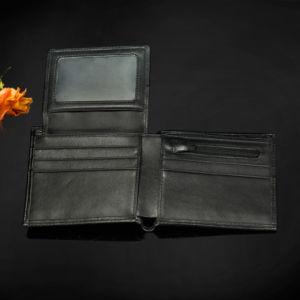 2017 Portable Small Carbon Fiber Cool Pocket Men′s Leather Wallet Slim Bifold Wallet pictures & photos
