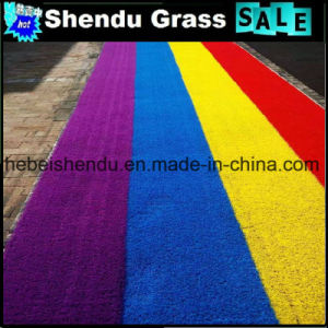 Red Artificial Grass 20mm for Decoration pictures & photos