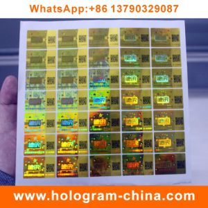 Custom 3D Hologram Laser Label with Qr Code pictures & photos
