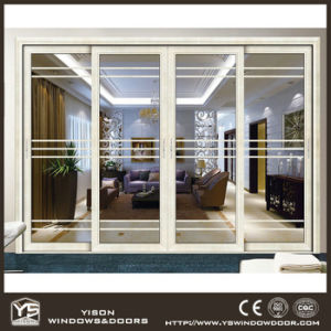 Woodwin High Quality Double Tempered Glass Thermal Break Aluminum Sliding Door pictures & photos