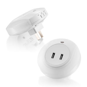 LED Night Light with Light Sensor Dual USB Wall Plate Charger for Bedroom EU/Us Plug pictures & photos