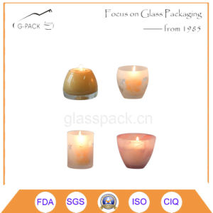 Cylinder Shape Glass Candle Holder pictures & photos