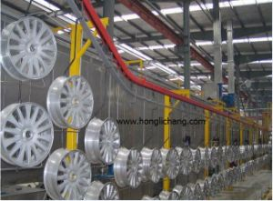 Overhead Conveyorised Powder Spray Painting/Coating Production Line pictures & photos